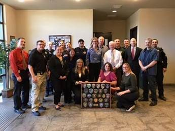 North Bay presents AED Maria Sandoval with Patch Board